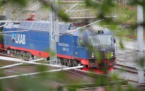 Güterzug in Kiruna