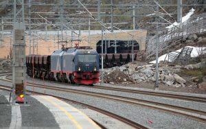 Güterzug in den Erzmienen von Kiruna