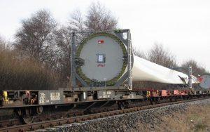 Gütertransport von Windrad-Rotorblättern