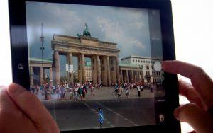 Fotoshooting des Brandenburger Tors mit iPad
