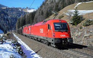 ÖBB auf der Brennerroute zwischen München, Innsbruck und dem Brennerpass