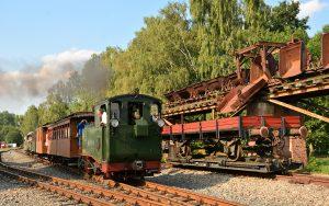 Ein Nachbau der I K, der ersten Schmalspurbahn-Lokomotive Sachsens