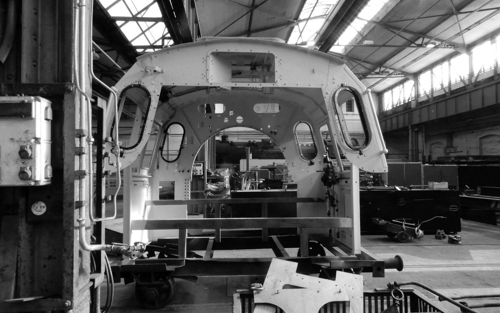 Foto: Christian Wodzinski - Führerhaus einer Regelspur-Dampflokomotive