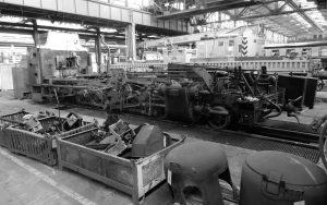 Rahmen und Laufwerk einer Eisenbahn