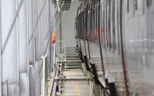 Blick in die Werkstatthalle Bombardier