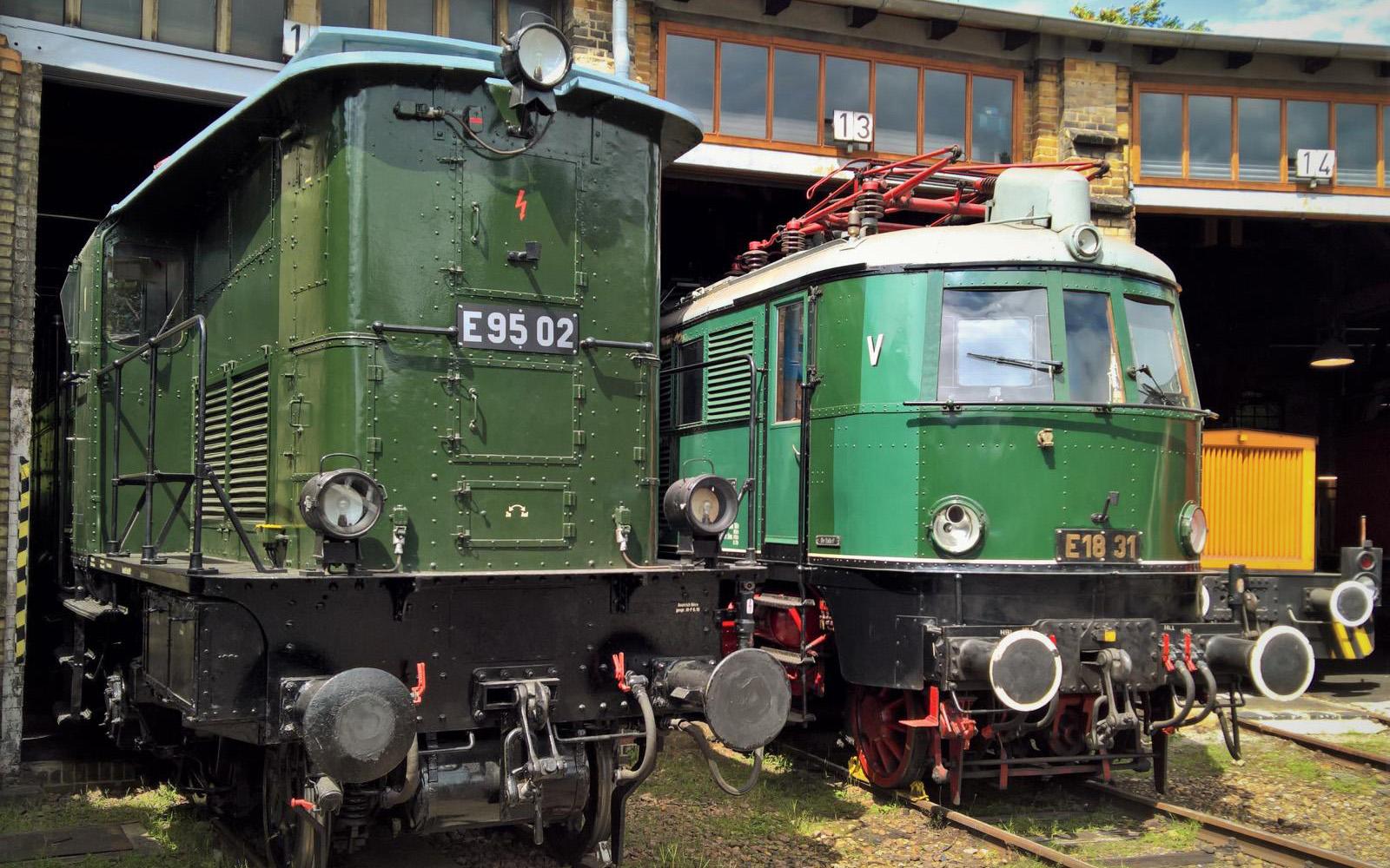 ©Foto: Christian Wodzinski   railmen   Güterzuglokomotive E95 02 im DB Museum Halle   BJ 1927