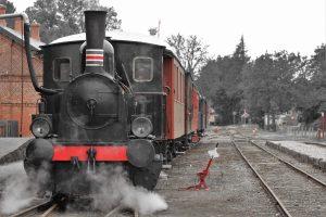 Kleine zweiachsige Lok 17 der Museumsbahn Maribo-Bandholm