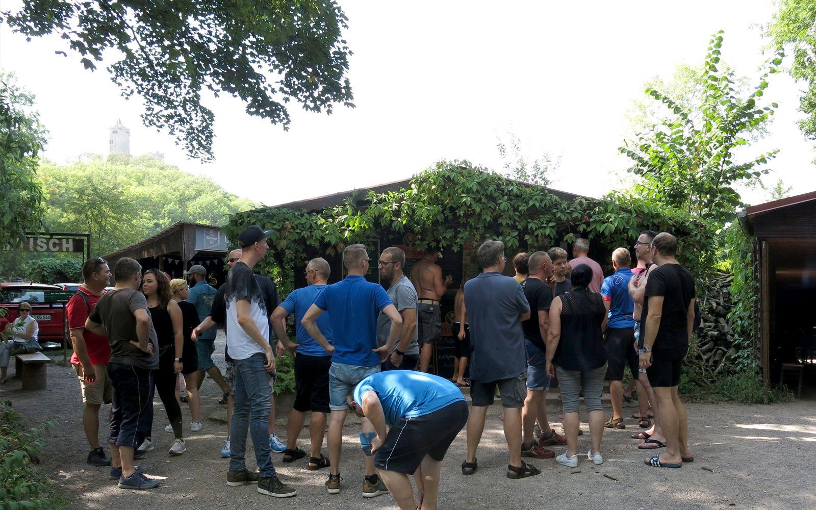 ©Foto: Erik Liebetruth | Railmen-Tag 2019 | Rafting-Tour | Am Fuße der Rudelsburg