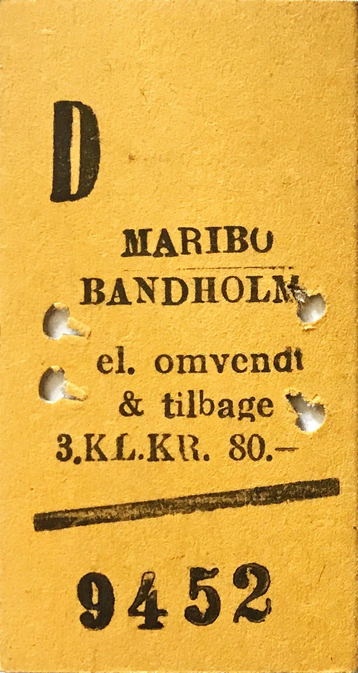 ©Foto: Christian Wodzinski | Museumsbahn Maribo-Bandholm | Fahrkarte