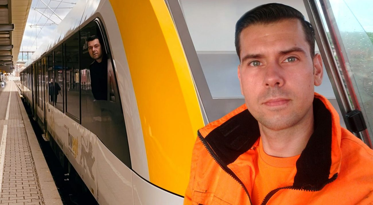 Railmen Daniel Hennig machte eine Umschulung zum Lokführer und sitzt jetzt im Cockpit für die SWEG und bringt Fahrgäste in Süddeutschland von A nach B.