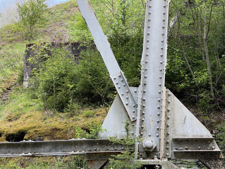 ©Foto: Jan Krehl | railmen | Ausschnitt der Stahlkonstruktion der Ziemestalbrücke im Thüringer Schiefergebirge
