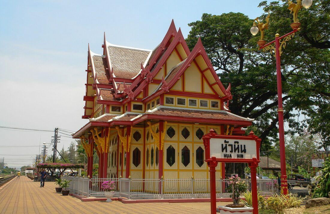 Königlicher Pavillon am Bahnhof Hua Hin